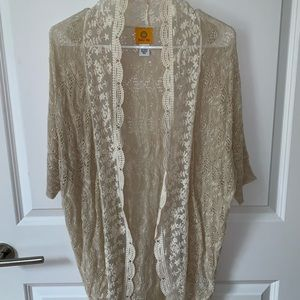 Ruby Rd lace sweater cardigan